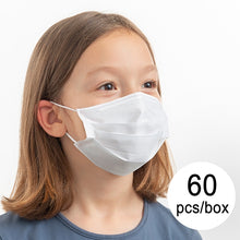Load image into Gallery viewer, Disposable Face Masks for Kids & Adults - 60 Pack
