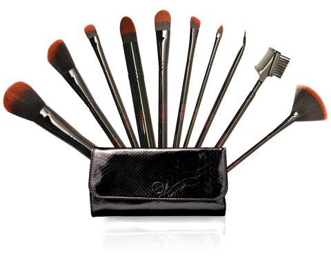 10-Piece Brush Set - Black