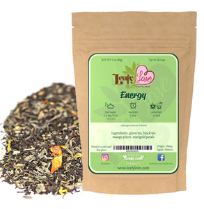 Leafy Love Energy Blend - Leafy Love Herbal Tea Blends