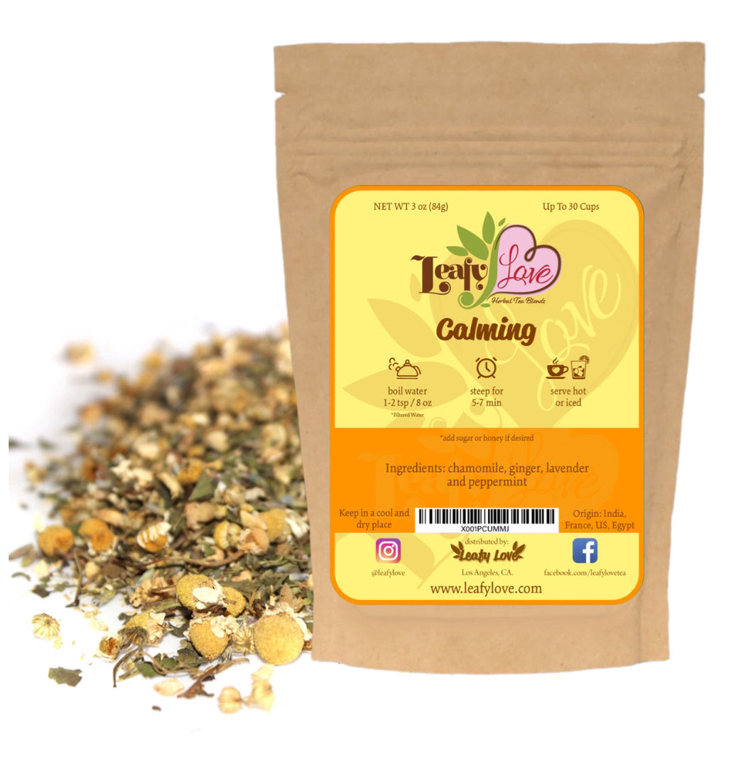 Leafy Love Calming Blend - Leafy Love Herbal Tea Blends