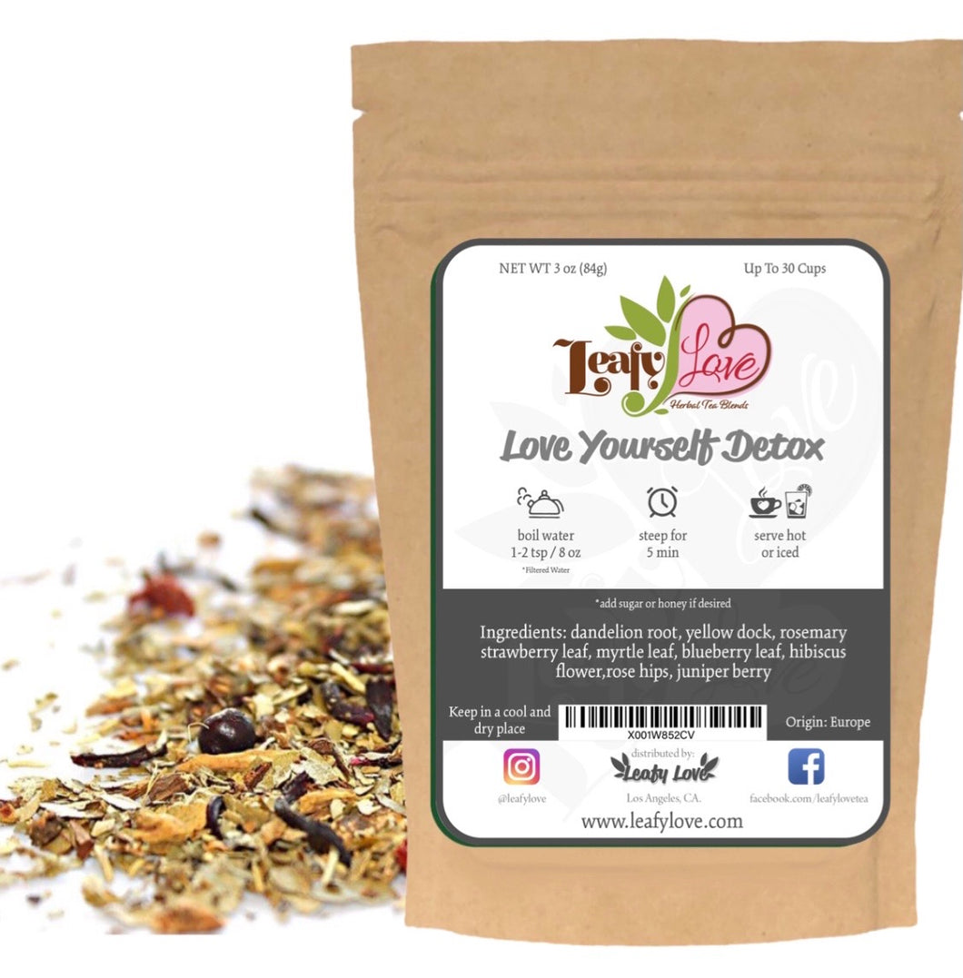 Leafy Love, Love Yourself Detox Blend - Leafy Love Herbal Tea Blends