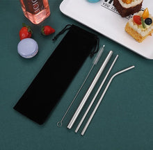 Load image into Gallery viewer, Leafy Love Stainless Steel Straw Set - Leafy Love Herbal Tea Blends
