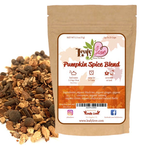 Leafy Love Herbal Pumpkin Spice Blend - Leafy Love Herbal Tea Blends