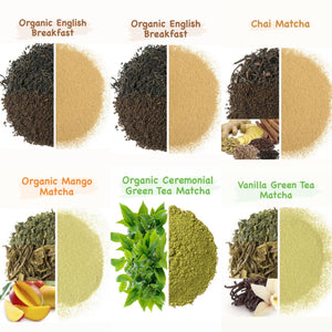 Leafy Love Matcha Latte Sampler Gift Set - Leafy Love Herbal Tea Blends