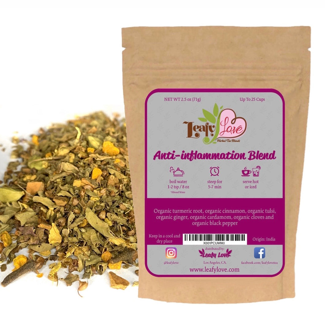 Leafy Love Anti-Inflammation Blend - Leafy Love Herbal Tea Blends