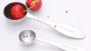 Tea Scoop Stainless Steel Measuring Spoons Set - Leafy Love Herbal Tea Blends