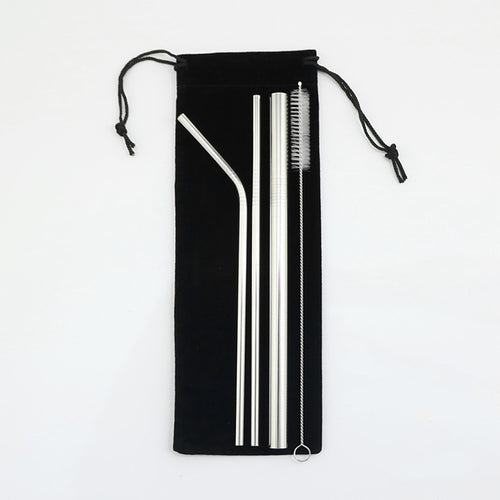 Leafy Love Stainless Steel Straw Set