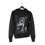 Lion Totem - Black - Zip-up Hoodie