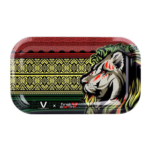 Rasta Lion Totem - Medium Rolling Tray