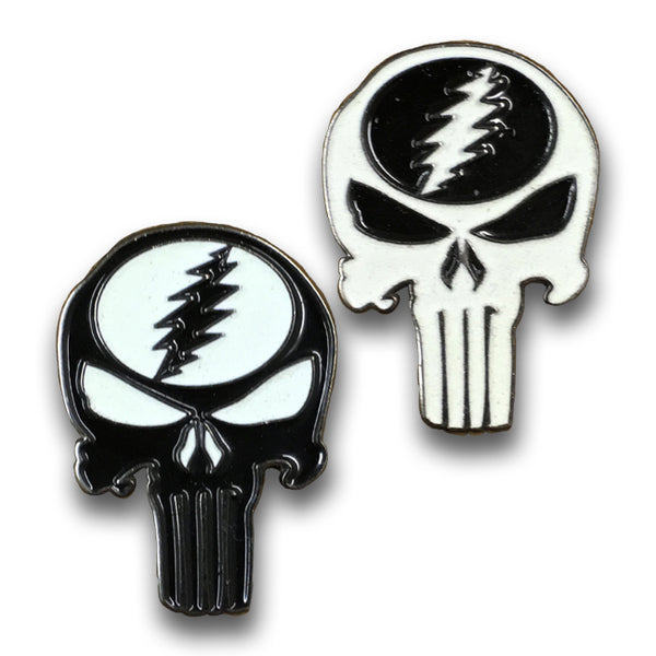 Punisher Stealie (Glow) - Hat Pin
