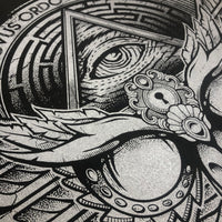 Owl Emblem - Silver - Screen Print