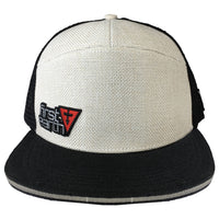 White on Black - Hemp Trucker