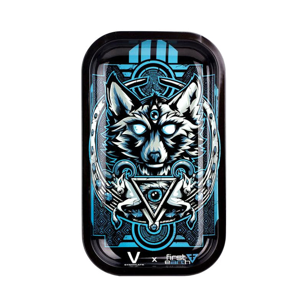 Night Wolf - Medium Rolling Tray