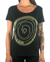PI Crop Circle - Gold - Womens Scoop Neck