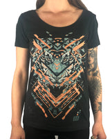Glitch Tiger - Womens Scoop Neck