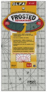 Frosted Acrylic Olfa Ruler 6in x 12in The Traveler - Fuller Fabrics