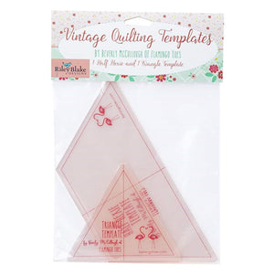 Triangle and Half Hexie Template by Beverly McCullough - Fuller Fabrics