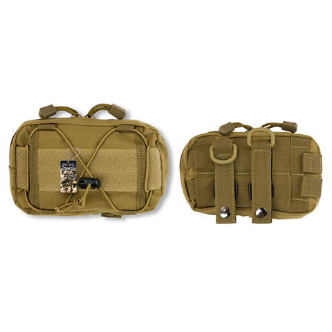 Barbaric Molle Velcro Pouch TAN