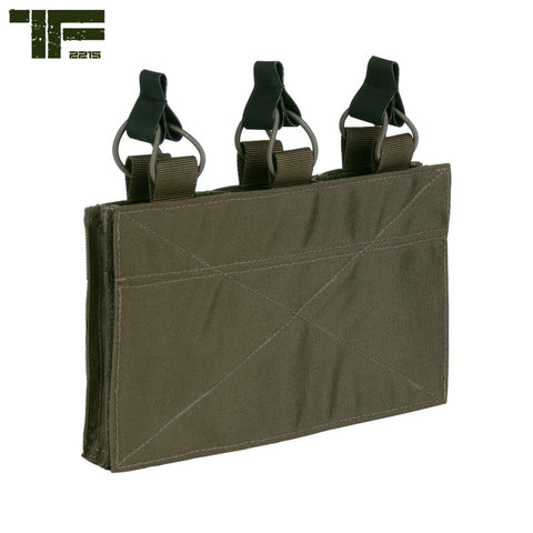 TF-2215 Triple M4 Pouch With Hook and Loop Panel Ranger Green