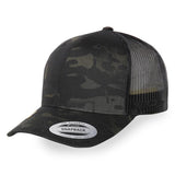 Flexfit Multicam Retro Trucker Snapback Cap - Multicam Black