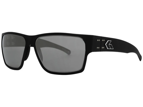 Gatorz Delta Matte Black Smoke polarized with Chrome Mirror