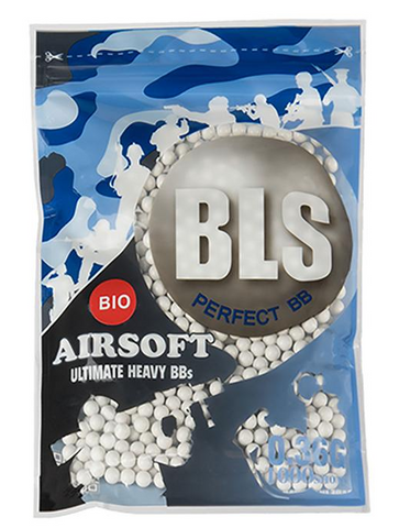 BLS BIO Ultimate Heavy 0.36g 1000 pcs - White