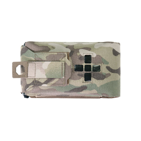 Laser Cut Small Horizontal Individual First Aid Kit - Multicam