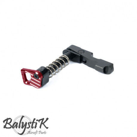 Balystik CNC Mag Catch For M4 Red