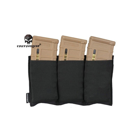 Emerson Triple Pouch Black