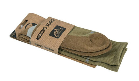 Helikon-Tex Merino Socks - Olive Green/Coyote
