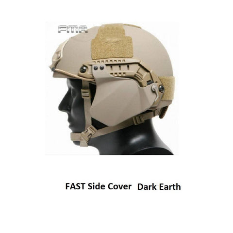 FMA Fast Helmet Side Cover - dark Earth