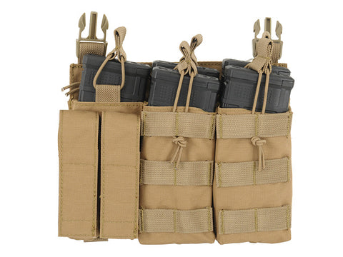 8 Fields Buckle Up Triple 5.56/Pistol Pouch Panel - Tan
