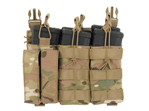 8 Fields Buckle Up Triple 5.56/Pistol Pouch Panel - Multicamo