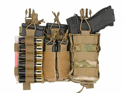 8 Fields Buckle Up Multi-Mission Front-Panel - Multicamo