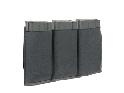 8Fields elastic Triple Pouch Black