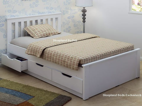 White Bed Wth 3 Drawers