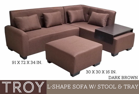 Troy L-shape Sofa set