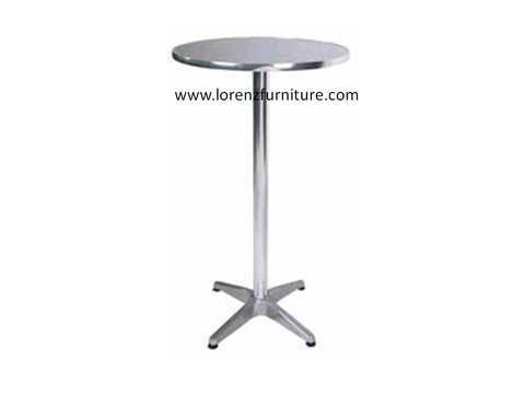 Aruba Aluminum Round Bar Table DBL-1