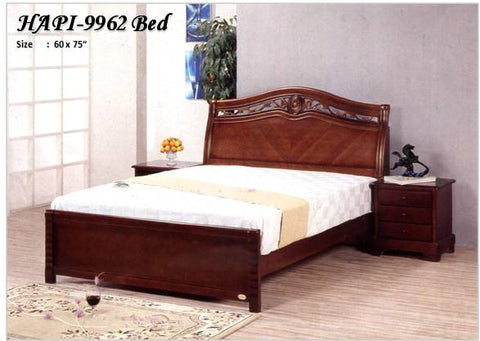 Wooden Bedframe with Headboard Storage, Queen