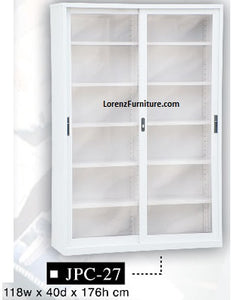 Two-Door Steel Office Cabinet with Glass Doors, JPC-27
