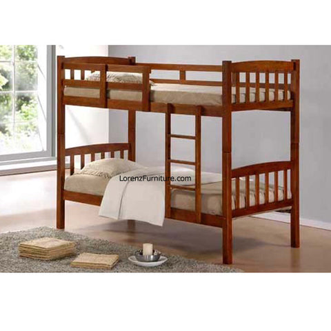 Wooden Double Deck Bed Frame BDF9