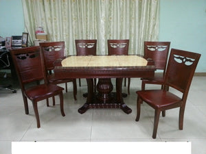 606/B28 Marble Dining Set 1+6