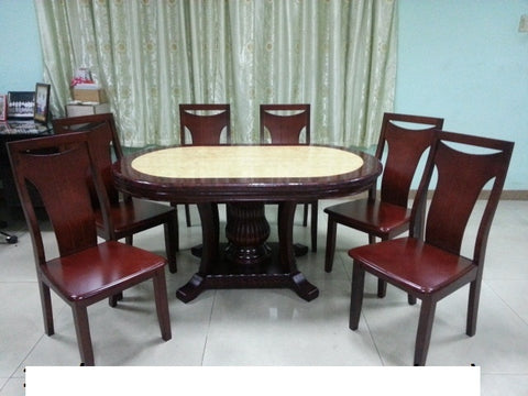 106/B31 Marble Dining Set 1+6