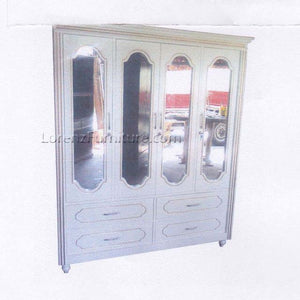 WC017 4-Door Wardrobe, White