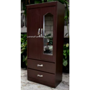 2-Door Wardrobe with Mirror