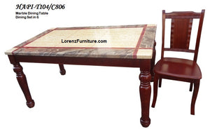 Marble Top Dining Table 8 Seater HAPI T104/C806