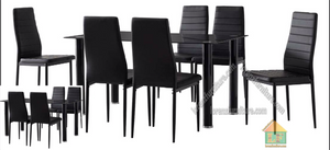 Dining Set with Leather Chairs 6308