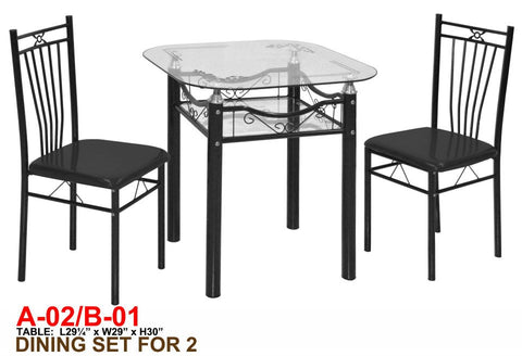 Glass Dining Set A02-B01