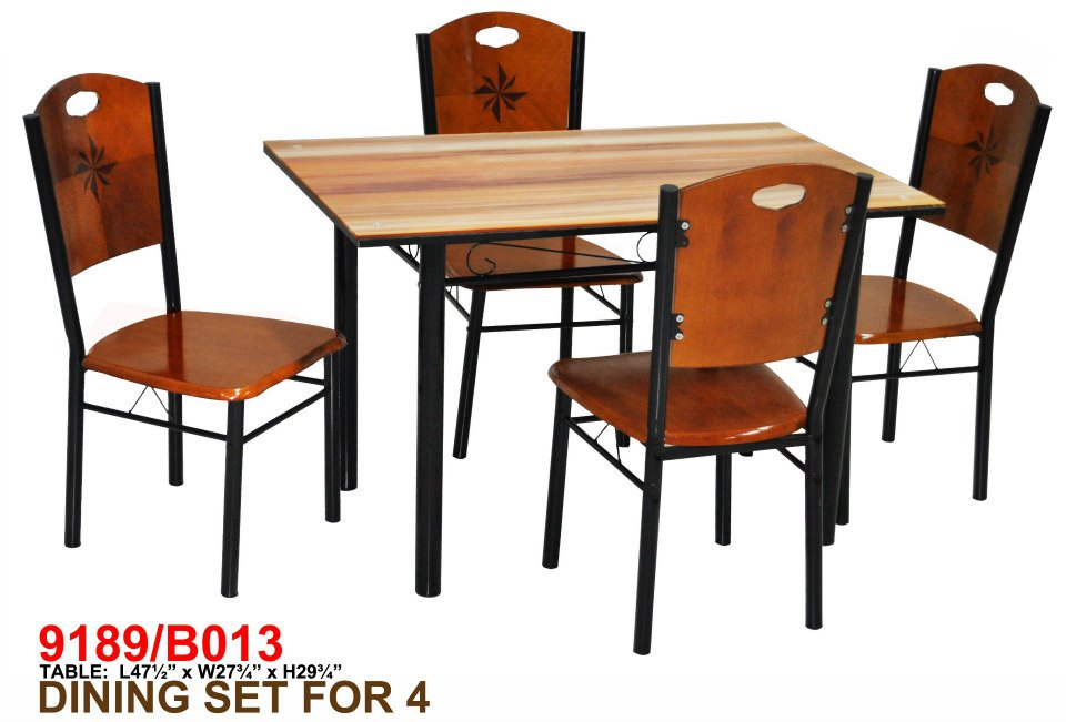 Dining Set with Pinwheel Chair Accent 9189-B013