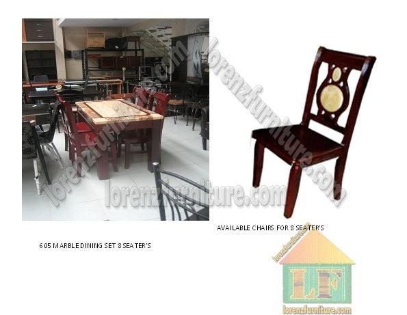 605 Marble Top Dining Set